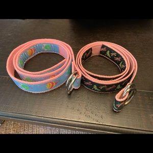 2 Douglas Paquette belts - L